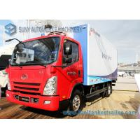 Wholesale FAW 5000KG Refrigerated Van Truck Red Sea Food Transport Truck from china suppliers