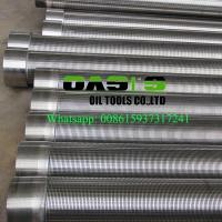 Wholesale stainless steel johnson v wire water well screens  for water well drilling from china suppliers