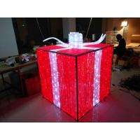 Wholesale Festival decoration LED motif 3D gift box outdoor Christmas light from china suppliers