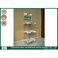 Wholesale Drinking Bottles HIPS PVC Floor Display Rack Three Shelves Engraved from china suppliers