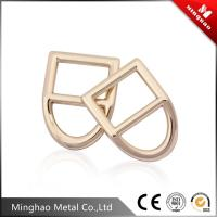 Wholesale D shape metal adjustable strap buckle,bag zinc alloy square buckle 36.85*19.51mm from china suppliers
