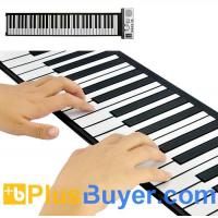 Wholesale Flexible Roll Up Piano with Soft Keys (61 Keys, 128 Synthesized Tones, 100 Preset Rhythms) from china suppliers