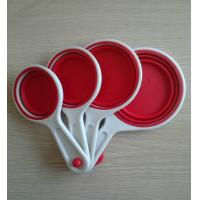 Wholesale Red Non-toxic Silicone Kitchenware Collapsible Measuring Spoon For Gift from china suppliers