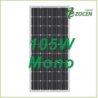 Quality Safety Mono Solar Panels 105w Eco-friendly With Mc4 Solar Connector for sale