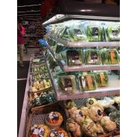 Quality Grey Powerful Commercial Display Freezer With Four Side Display Open Chiller for sale