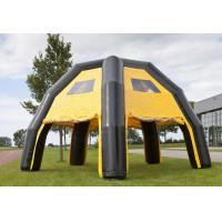 Wholesale Water Proof Black / Yellow Inflatable Spider Tent For Advertise , 6.8*6.8*4.8m from china suppliers