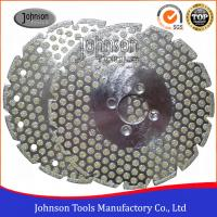 Wholesale Double Side Dots Electroplated Diamond Tools For Marble / Granite Cutting from china suppliers