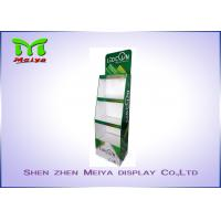 Wholesale 3 Tiers Green color custom cardboard displays shelf  for LED bulbs from china suppliers