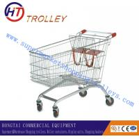 Wholesale Durable Chrome Plated Basket Shopping Cart For Showroom / Exhibition from china suppliers