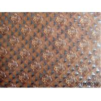 Buy cheap embossed flowers and square shiny pu leather with woven backing for bags from wholesalers