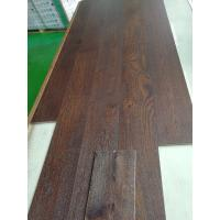 Wholesale white oak engineered wood flooring,expresso color, brushed, stained color, matt, TREFFERT UV lacquer from china suppliers