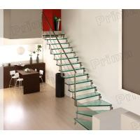 Quality High Grade Stainless Steel Railing Glass Stair Case for sale