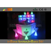 Wholesale PE Outdoor LED Bar Furniture Sets Glow Chair And Tables For Conference from china suppliers