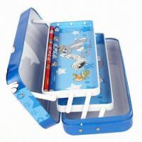 Wholesale Three-tier Metal Pencil Case, Eco-friendly, Washable and Recyclable, Available in Various Colors from china suppliers