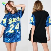 Wholesale Number 24 Ladies Sequin Dress / Blue Adults Sequin Hip Hop Dance Costumes from china suppliers