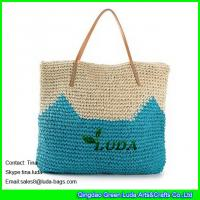 Wholesale LUDA cute pattern beach bag crochetting paper straw beach bag uk from china suppliers