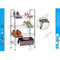 Wholesale Chrome Plated Adjustable Wire Shelving Kitchen Cart 800 lbs for Shoes from china suppliers