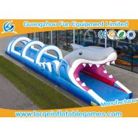 Wholesale Shark Commercial Inflatable Slide , Pool Blow Up Outdoor Inflatable Water Slide Printing from china suppliers