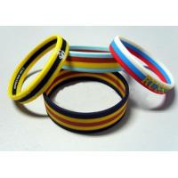 Wholesale Screen Printing Elastic Silicone Rubber Bands Soft with Multilayer Colors from china suppliers