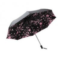 Wholesale Strong Windproof Lightweight Folding Umbrella Black Color Offer UV Protection from china suppliers