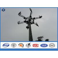 Wholesale 3mm Monopole Telecommunication Tower powerline poles , long life span electric post from china suppliers