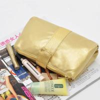 Wholesale PVC Gold Travel Cosmetic Bags , Folding Cosmetic Bag For Traveling from china suppliers
