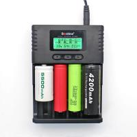 Wholesale Soshine H4 LCD Charger for Li-ion/NiMH/ LiIFePO4 battery 14500 18350 18650 26650 AA AAA C from china suppliers