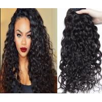 Natural Black Unprocessed Virgin Brazilian Hair , Water Wave Human Hair Extensions