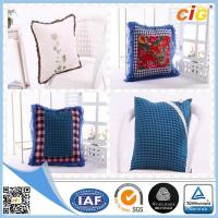 Quality Red / White / Blue Plain Modern Luxury Decorative Cushion Covers for Sofa , Car or Chairs for sale