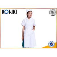 Wholesale Anti Chlorine White Medical Medical Scrubs And Uniforms , Pink Female Nurse Uniform from china suppliers