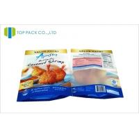 Wholesale Frozen Food Stand Up Pouch Packaging Transparent Window Front Matte Printed from china suppliers