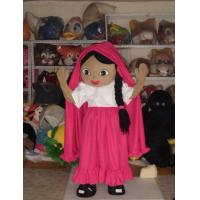 Wholesale full body cartoon girl character plush advertising mascot costumes from china suppliers