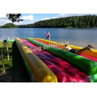 Buy cheap Colorful Eye-Catching Inflatable Water Slide For Children 15*3m / Inflatable Playground from wholesalers