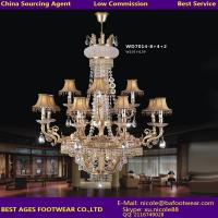 Wholesale Hot sell modern k9 6L crystal pendant chandelier lighting from China Agent from china suppliers