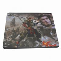 Quality Square Soft Cloth Surface Rubber Mouse Pad Mat For Laser Mouse for sale