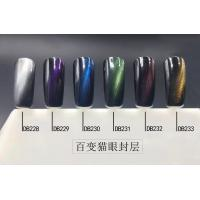 Wholesale 2016 newest popular Nail cat eye non wipe top coat for 6 colors from china suppliers
