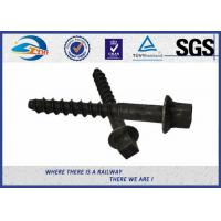 Wholesale 8.8 Grade 45# Oxide Black Railway Sleeper Screws Spike Insert Plastic Dowel from china suppliers