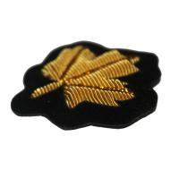 Wholesale Gold Maple Leaf Embroidered Flower Patches Embroidered School Badges from china suppliers