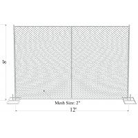 Wholesale portable movable fencing/ used temporary fence/ chain link fence panels sale from china suppliers