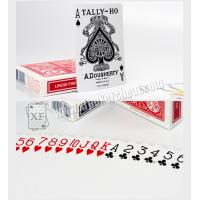 Quality Paper Tally Ho Invisible Playing Cards For UV Contact Lenses Magic Tools for sale
