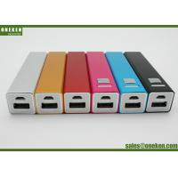 Wholesale Metal Case Portable Battery Power Bank , Lipstick Design 18650 Battery Bank For Samsung from china suppliers