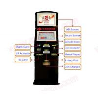 Wholesale Best price 19 inch Self service touch screen lottery vending machine with credit card reader and bill acceptor from china suppliers