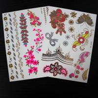 Wholesale Water Transfer Childrens Hair Fake Tattoo Stickers , Pink Ribbon Temporary Tattoos from china suppliers