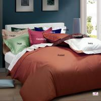 Wholesale Purplish Red Dyed Full Size Queen Microfiber Bedding Set for Home and Hotel from china suppliers