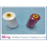 Wholesale 20/2/3/4 High Tenacity 100% Polyester Sewing Thread  White Red from china suppliers