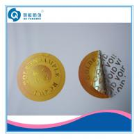 Wholesale Waterproof  Transfer Tamper Proof Labels Stickers , Round Gold Warranty VOID Seal Labels from china suppliers