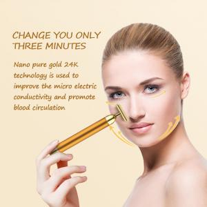 Wholesale Face Lift DC 1.5V 6000VPM 24K Gold Bar Face Massager from china suppliers