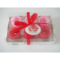 Wholesale Romatic rose flower candle set for valentine's day from china suppliers