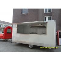 Wholesale CE Certification White Food Service Trailer  Towable  With Big Serving Window from china suppliers