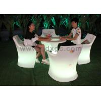 Wholesale Party Waterproof Plastic Red Bar Chairs , LED Lighting Furniture with 16 Colors from china suppliers